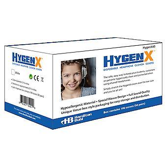 Hygenx Sanitär Ohr Kissenabdeckungen für Over-Ear Kopfhörer & Headsets - 50 Paar