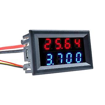 Digital led voltmeterförstälse, dubbelspänningsmätare, mätarkontakter med 5-ledningar