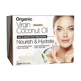Organic Coconut Giorno Notte Viso Set 50 ml