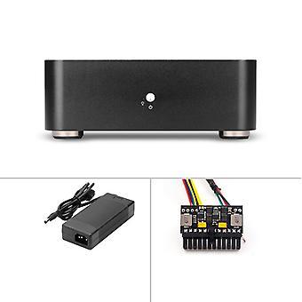 Mini itx caja de ordenador aluminio pc caja chasis Htpc con fuente de alimentación