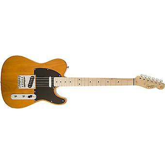 Squier af fender affinitet telecaster nybegynder elektrisk guitar - ahorn fingerboard, butterscotch blonde
