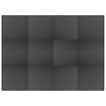 Alfombrillas 12 Pcs 4.32 銕?eva Foam Black