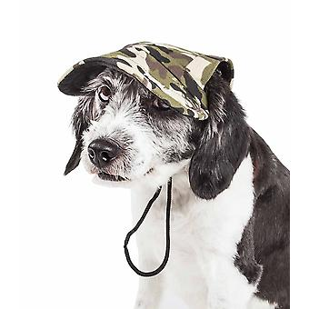 Haustier Leben 'Torrential Downfour' Camouflage Uv Schützen verstellbare Mode Hund Hut Mütze, Tarnung - groß