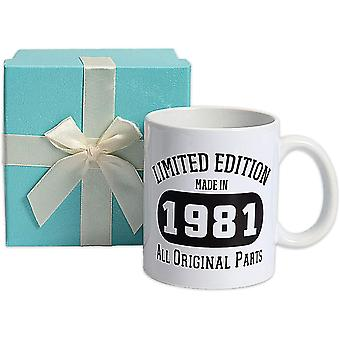 40th Birthday Gifts for Women and Men, Vintage 1981 Aged Ceramic Mugs Turning 40 Years Old Funny