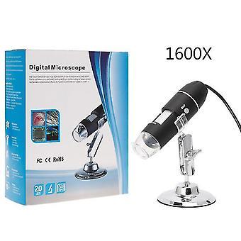 1600X USB цифровой микроскоп камеры эндоскоп 8led увеличитель с металлической подстой