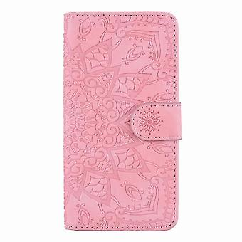 Klasyczny skórzany futerał folio do Samsung Galaxy A51 - różowe złoto