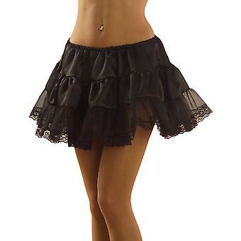 Zwarte petticoat met volwassen kant