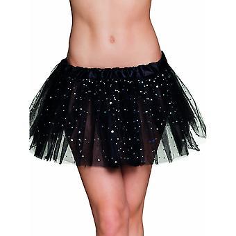 Tutu noir étoile scintillante femme