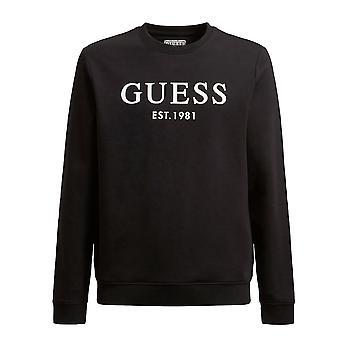 Je suppose | Beau M1rq08k7on1 Fleece Front Logo Sweat Top - Noir
