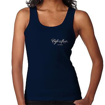 Cafe del Mar Classic White Logo Pocket Print Women's Vest