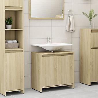 vidaXL bathroom cabinet Sonoma oak 60x33x58 cm chipboard