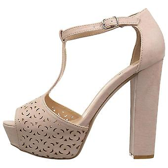 Qupid Womens Beat-92 Open Toe Special Occasion Platform Sandals