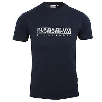 Napapijri sallar men's blue marine t-shirt