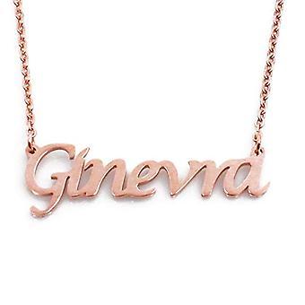KL Kigu Geneva - Kvinders halskæde med personligt navn, moderigtige smykker, gave til kæreste, mor, søster