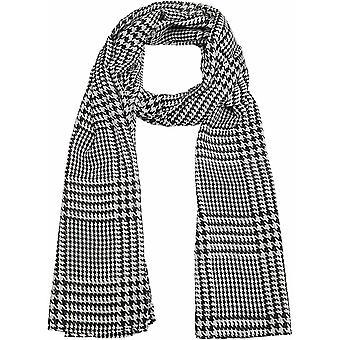 FengChun Damen Tuch mit Hahnentritt-Muster schwarz/weiß hundezahn 1