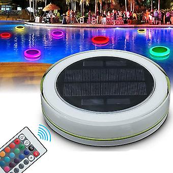 Floating Led Pool Light With Round Solar Energy Color Changing Waterproof Lightweight Remote Control
