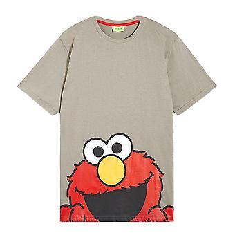 Men's Sesame Street Elmo Face Crew Neck T-Shirt
