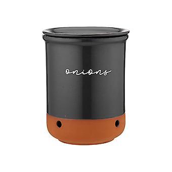 Ladelle Eco Onion Jar, Charcoal