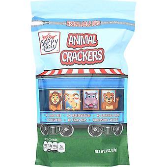Happy Snacks Cracker Vanilla Animl Nat, Case of 6 X 8 Oz