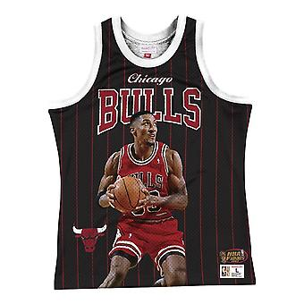 Mitchell & Ness Nba Chicago Bulls Scottie Pippen MSTKSC19048CBUBLCKSPI koripallo koko vuoden miesten t-paita