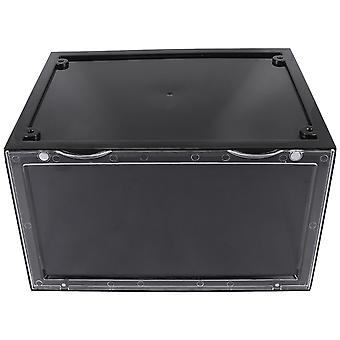 Plastic Shoe Storage Clear Drawer Organiser Boxes With Stackable Containers