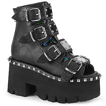 Demonia Women's Shoes ASHES-70 Blk V. Le & Hologramme
