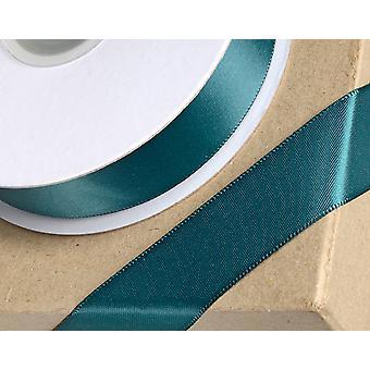 25m flaske grønn 10mm bred sateng bånd for håndverk