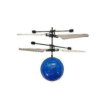 barn utendørs håndsensor kontroll ledet blinkende ball helikopter fly (blå)
