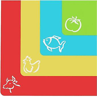 Extra Thick Flexible Plastic Cutting Mats Food Icons  Waffle Back 4-piece Suit