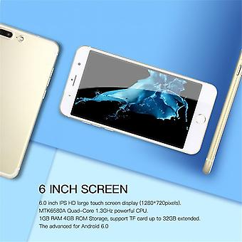 6 Inch 1gb Ram 4gb Rom Quad Core Mobile Phone Dual Sim For Android 6.0 Ip7s