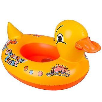 Puhallettava bouncer tarvikkeet keltainen ankka vauva float ja puhallettava uimaistuin