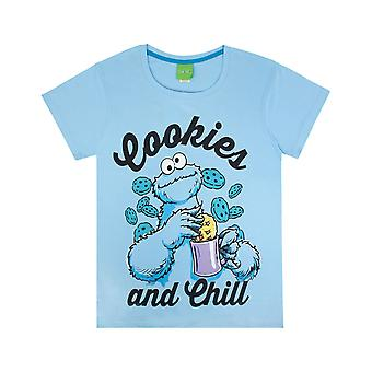 Szezám utcai női / női cookie Monster Pizsama