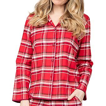 Cyberjammies Robyn 4983 Women's Red Check Cotton Pyjama Top