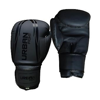 Urban Fight Synthetic Boxing Sparring Training Gloves Black