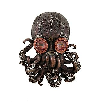 Antique Bronze Finish Steampunk Octopus Wall Hanging