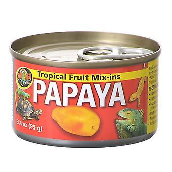 Zoo Med Tropical Friut Mix-ins Papaya Reptile Treat - 4 oz