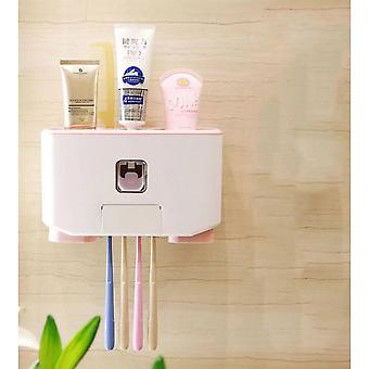 Multifunctional Automatic Toothpaste Dispenser And Toothbrush Holder Set