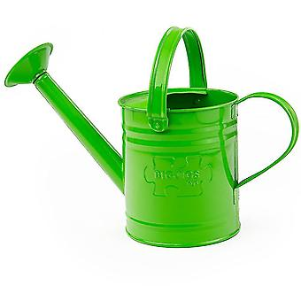 Pretend lawn garden children's green watering can with top and side handle - garden tools for kids