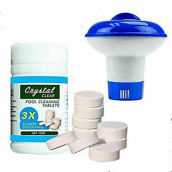 100g Pool Cleaning Tablet Floating Hot Tub Chemical Dispenser