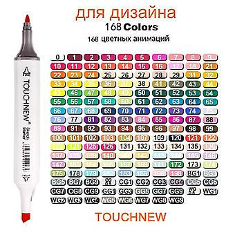 168-farben-Markerstift-Set, Doppelspitzen-Markerstift, Schulfarben, Comics