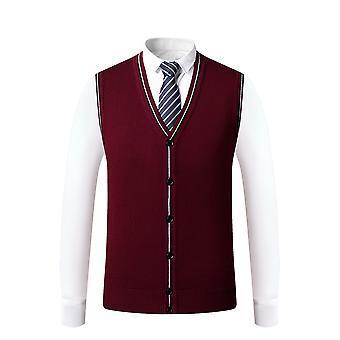 Mile Men's Sweater Vest Cardigan Button Front Knitwear Solid Sweater Vest