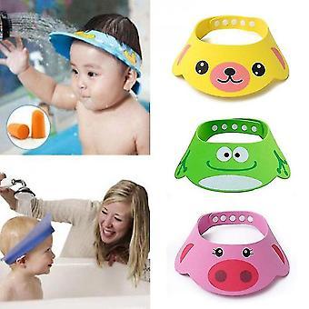 Caraele Adjustable Baby Shower Hat Toddler Kids Shampoo Bathing Shower Cap Wash Hair Shield Direct Visor