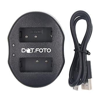 Dot.Foto Canon LP-E17 Dual USB-paristolaturin, Canon EOS 750D, 760D M3 | Canon EOS Rebel T6i, T6s