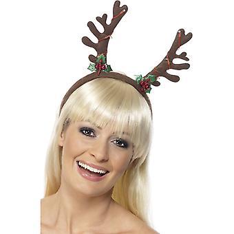 Rentier Haarreif Boppers mit Licht Weihnachten Elch Rentier Hut Mütze Xmas
