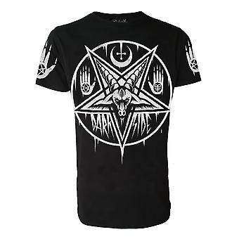Darkside - pentagram baphomet - mens t-shirt - black