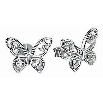 925 sølv Butterfly ørering