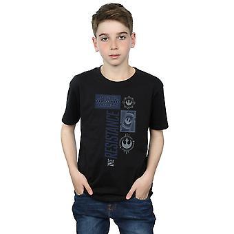 Tähden Wars pojat viimeinen Jedi Resistance t-paita
