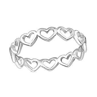 Hart - 925 Sterling Zilver platte ringen - W33827X