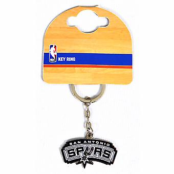 San Antonio Spurs Official NBA Metal Crest Keyring