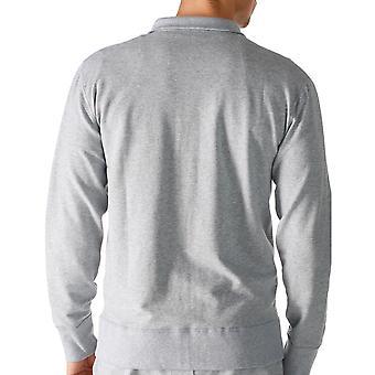 Mey 23593-620 Men's Enjoy Grey Solid Colour Pajama Pyjama Top